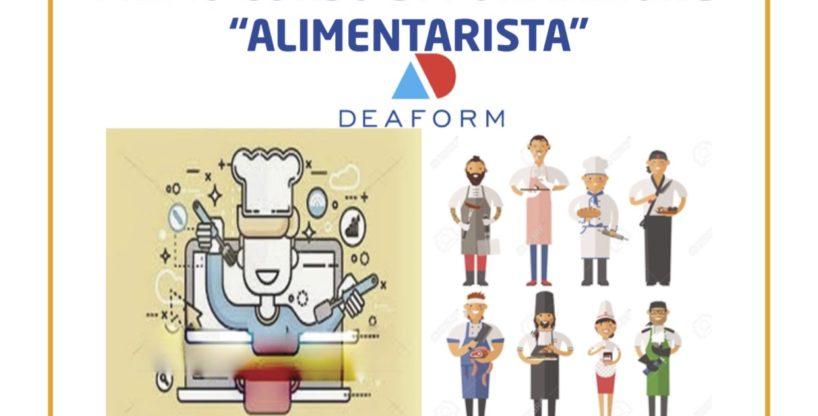 """PRIMO CORSO DI FORMAZIONE    """"ALIMENTARISTA"""""""